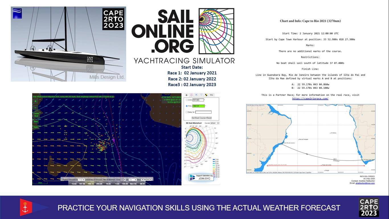 Hone your navigation skills between Cape Town & Rio de Janeiro